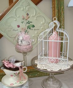 Metal BirdcageWhite Home Decor