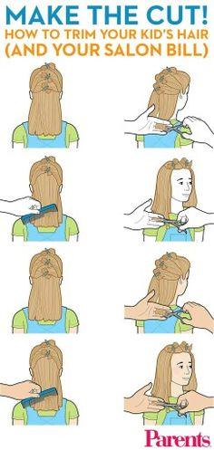 How to cute girls hair