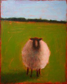 Sheep Paintings, Paintings I Love, Animal Paintings, Acrylic Art, Acrylic Painting Canvas, Landscape Art, Landscape Paintings, Landscapes, Pop Art