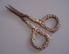 ornate embroidery scissors