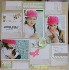 Adorable #scrapbook #pink #hat #layout