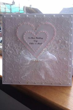 Wedding Card - All essential products for this project can be found on Crafting.co.uk - for all your crafting needs.
