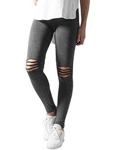 #Urban #Classics #Damen #Ladies #Cutted #Knee #Leggings, #dunkelgrau #(Acid…