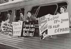 During 1961, student volunteers took bus trips through the South to test anti-segregation laws. They were known as freedom riders. They were often attacked while they were acting peacefully.