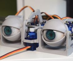 Simplified Printed Animatronic Dual Eye Mechanism : 4 Steps (with Pictures) - Instructables Circuit Projects, Arduino Projects, 3d Projects, Build A Robot, Arduino Cnc, 3d Printer Filament, Used Parts, Designs To Draw, 3d Printing