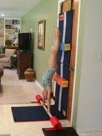Handstand Homework - tumbling gymnastics bars beginner mat gymnasts handstands velcro handstand - Tumbl Trak - Gymnastics, Cheerleading and ...