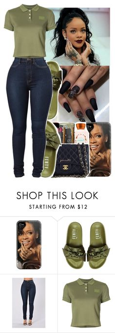 """💚💚🖤🖤"" by jasmine1164 ❤ liked on Polyvore featuring Puma"