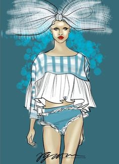 Illustration.Files: Sibling S/S 2015 Fashion Illustration by Velicia Waymer