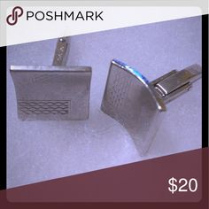 Cufflinks Silver colored cufflinks that are great to accentuate those dress shirts. Go ahead and step your game up! Accessories Cuff Links