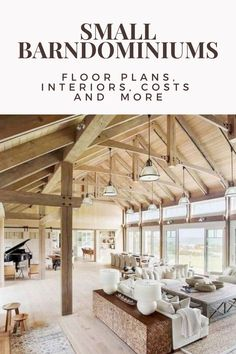 Interested in a small barndominium, and don't need the space some of the more massive ones provide? Come learn about the benefits of a small barndominium. Barn Homes Floor Plans, Pole Barn House Plans, Barndominium Floor Plans, Pole Barn Homes, New House Plans, Small House Plans, Barn Home Plans, Barn Style Homes, Metal Homes Plans
