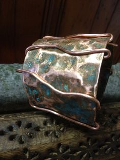Verdigris Copper Cuff by CopperAlchemyHealers on Etsy, $22.00