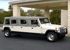Full custom STRETCH JEEPS!!! You provide the vehicle, go through what you want customed (door types, full doors, half doors,  soft top, lift kits, winches, custom racks, bumpers, lights or anything else you can imagine) They do the conversion.. and prices start at $18500 for an old 2 door to stretch to a 4 door with seating for 3rd row included!