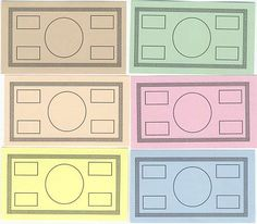 Blank Play Money template, have students design the classroom money... totally wanting to do Buckley Bucks
