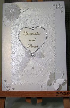 Wedding card I made - Mostly Kaszazz products and sentiments made on the computer