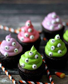 Cupcakes monstres / Frissonnez avec des cupcakes d'Halloween
