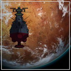 Yamato Leaving Earth (Star Blazers 2199) 70s Tv Shows, Star Blazers, Space Battles, Comic Games, Battleship, Anime Comics, Spaceship, Science Fiction, Boats