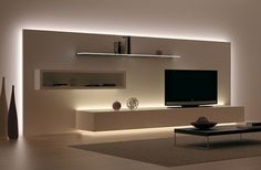 Most recent designs and pleasing TV wall designs. Living room tv Alcove S… Most recent designs and pleasing TV wall designs. Living Room Tv, Home And Living, Tv Stand Ideas For Living Room, Cozy Living, Kitchen Living, Dining Room, Tv Wall Design, House Design, Tv Cabinet Design
