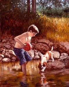 Jim Daly's Website, Americana Artist, Genre, Nostalgia paintings