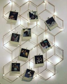 A beautiful Vintage mural to make your decor even more charming! Diy Wall Decor For Bedroom, Cute Room Decor, Diy Wall Art, Polaroid Display, Polaroid Wall, Polaroid Decoration, Polaroids, Polaroid Pictures Display, Diy Crafts For Home Decor