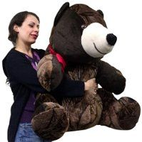 American Made Giant Stuffed Brown Teddy Bear 32 Inches Fat Soft Plush Bear Made in the USA America