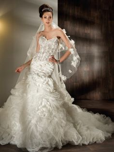 Demetrios wedding gowns & dresses makes luxury affordable. Explore all of our wedding gowns & evening dresses collections and find a store near you. Wedding Dresses Under 500, Sheer Wedding Dress, Wedding Dresses With Flowers, Wedding Dresses 2014, Cute Wedding Dress, Sweetheart Wedding Dress, Wedding Dress Sizes, Colored Wedding Dresses, Bridal Dresses
