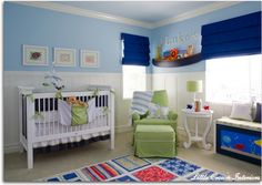blue and green nursery