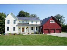 white farmhouse, red barn garage @Christina & Beach - this is what I want.