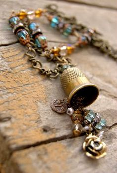 what fun - a thimble necklace