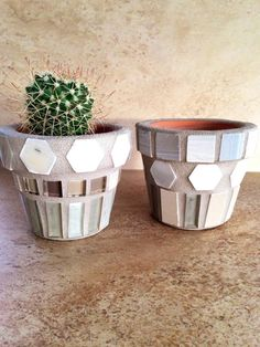A personal favorite from my Etsy shop https://www.etsy.com/listing/493196208/tiny-mosaic-flower-pots-small-planter