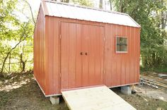 I built a 12x12 metal garden shed for a little over $1000.
