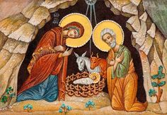 The Nativity of Christ - Crushed Stone Icons - Visit our website: http://catalog.obitel-minsk.com/icons-prav/crushed-stone-icons.html #Orthodox #Orthodoxy #Handmade #Crushed Stone #Painting #Order #Purchase #Delivery #Unique #Nativity #Christ