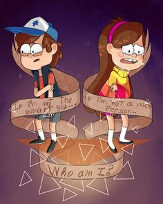Dipper Pines,Mabel Pines- That`s easy you guys are the mystery twins! Like & comment 'mystery twins' if you agree Dipper Und Mabel, Mabel Pines, Dipper Pines, Monster Falls, Pinecest, Dipcifica, Desenhos Gravity Falls, Gavity Falls, Gravity Falls Fan Art