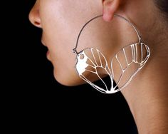 "Earrings |  Eleven44 Designs.  ""Butterfly Wing"".  Sterling silver"