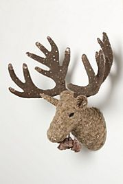 Anthropologie catalog:  Winter Dream Moose Bust