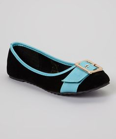 This Black & Turquoise Odell Flat is perfect! #zulilyfinds