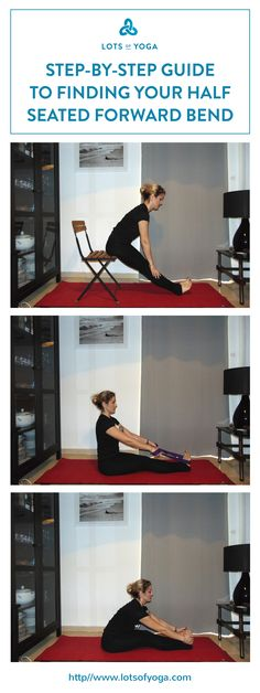 Easy step by step guide to seated forward bend modifications (paschimottanasana modifications).