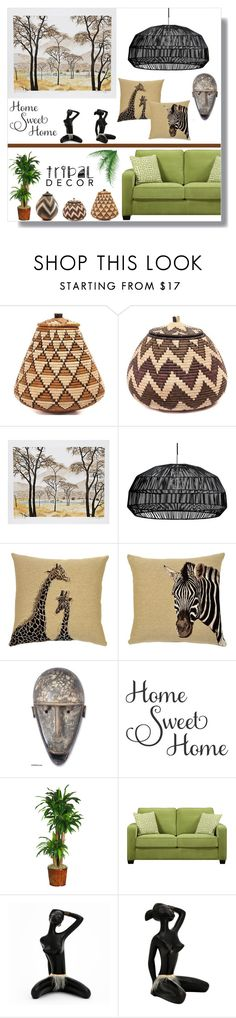 """""""Home Sweet Home: It's Africa!"""" by alicepippawilliams ❤ liked on Polyvore featuring interior, interiors, interior design, home, home decor, interior decorating, Ay Illuminate, NOVICA, Nearly Natural and Portfolio"""