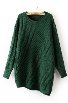 Long-sleeved round neck pullover sweater(4 colors)