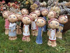 Naše Andělínky Cotton Crafts, Cute Clay, Gift Vouchers, Clay Creations, Clay Crafts, Clay Art, Art Dolls, Garden Sculpture, Succulents