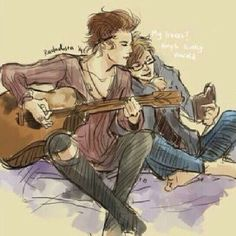 Imagine them writing Happily and Strong together // Larry Stylinson fan art
