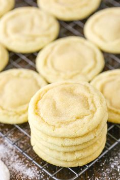 Soft Sugar Cookie Recipe No Baking Powder.The Best Sugar Cookies Easy No Chill Sugar Cookies. All Butter Sugar Cookies With Cream Cheese Frosting Recipe. The Best Sugar Cookie Recipes Of All Time HuffPost. Home and Family Chewy Sugar Cookie Recipe, Vegan Sugar Cookies, Homemade Sugar Cookies, Soft Sugar Cookies, Easy Cookie Recipes, Baking Recipes, Dessert Recipes, Baking Cookies, Sugar Cookie Recipe With No Baking Powder
