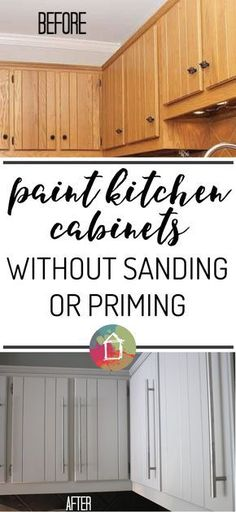 Corrugated tin backsplash island w barn red cabinets for Can you paint kitchen cabinets without sanding them