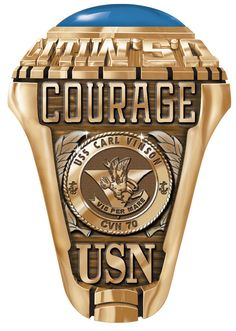Create this historic ring with all your own personnel details. A great memento of your service on one of the great carriers the USS Carl Vinson