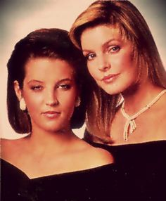 Lisa and Priscilla in the 80's - Priscilla Presley and Lisa Marie ...