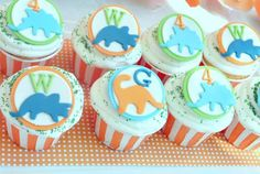 View this party with twin dinosaur cake, jars of rock candy, green dinosaur rice krispies, dino-mite jellos & cupcakes with dinosaur toppers & more dinosaur party ideas. Girls Birthday Party Themes, Dinosaur Birthday Party, 4th Birthday Parties, Birthday Ideas, Kid Parties, 3rd Birthday, Dinosaur Cupcakes, Dinosaur Food, Fondant Cupcake Toppers