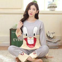Soprt Leisure clothes Newest 2016 spring & autumn long sleeved women pajamas silk pyjamas lovely 90S sleepwear free shipping