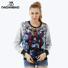 NADANBAO Autumn Spider Man Women Sweatshirt Punk style Printed Sweatshirt moletom Female Suit Hoodie Outside Woman Sudaderas