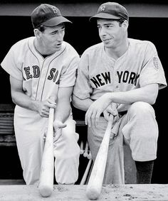 Ted Williams with Joe D. two of the best bats ever