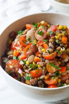 15 Bean Salad - Like the classic 15 Bean Soup Recipe in colld refreshing salad form. This fabulous summer side dish is a great make-ahead and can be saved