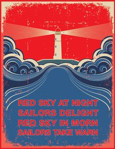 Sailor Lighthouse Poster by C2SeaCreations on Etsy, $15.00